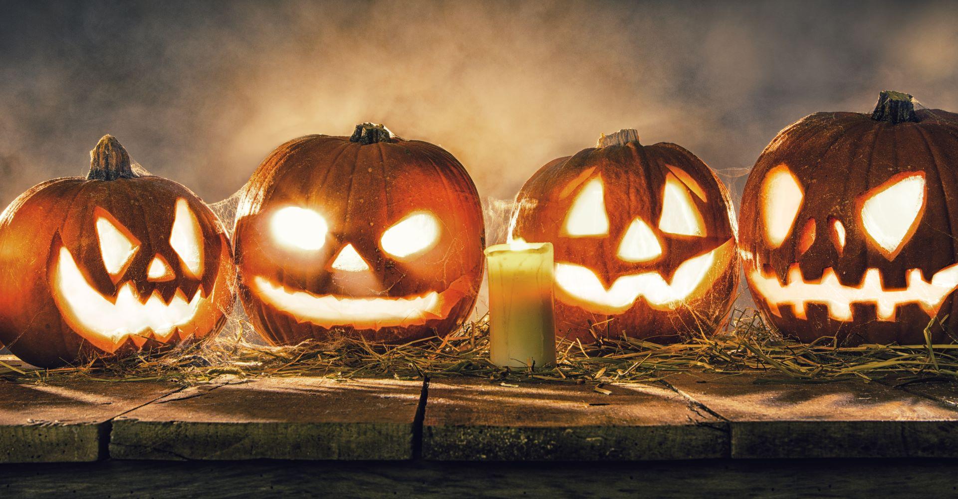 Kürbisgesichter Kürbis Schnitzen Schnitzvorlagen Zu Halloween