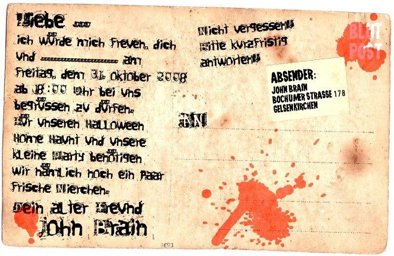 einladungsideen | halloween party tipps und dekoration von, Einladung