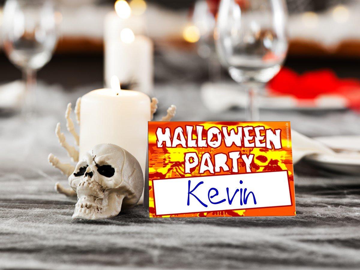 kostenlose tischkarten halloween party tipps und. Black Bedroom Furniture Sets. Home Design Ideas