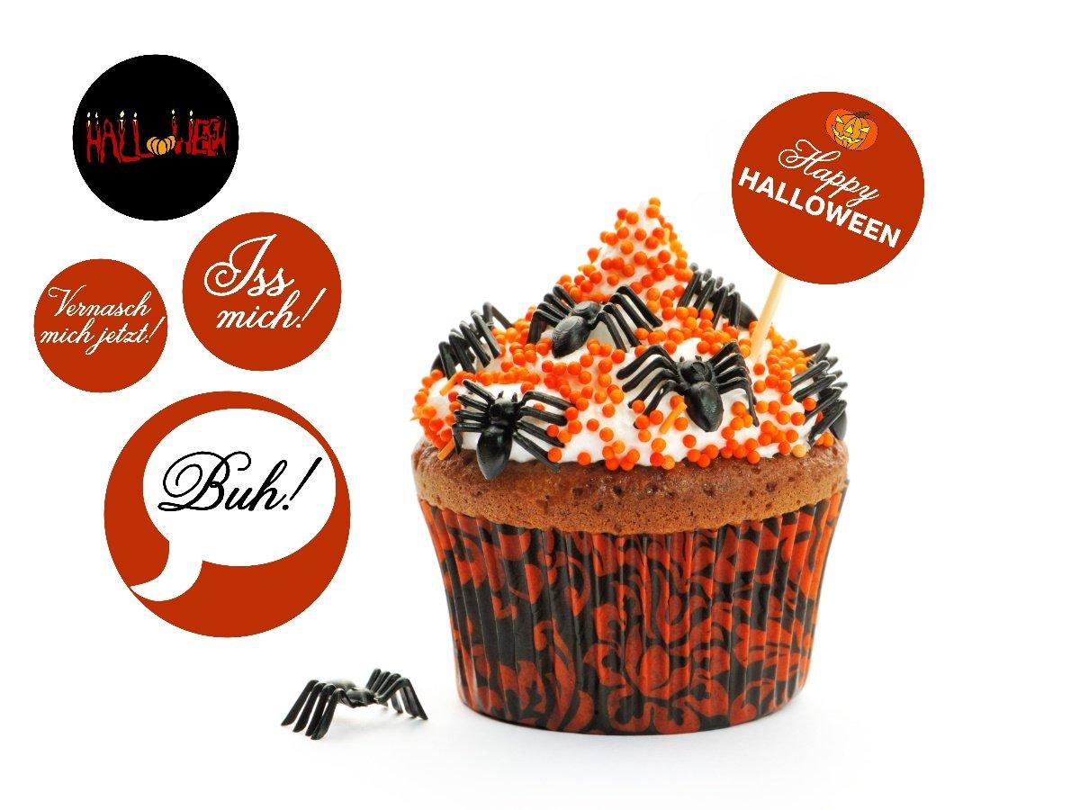 halloween cupcake picker halloween party tipps und. Black Bedroom Furniture Sets. Home Design Ideas