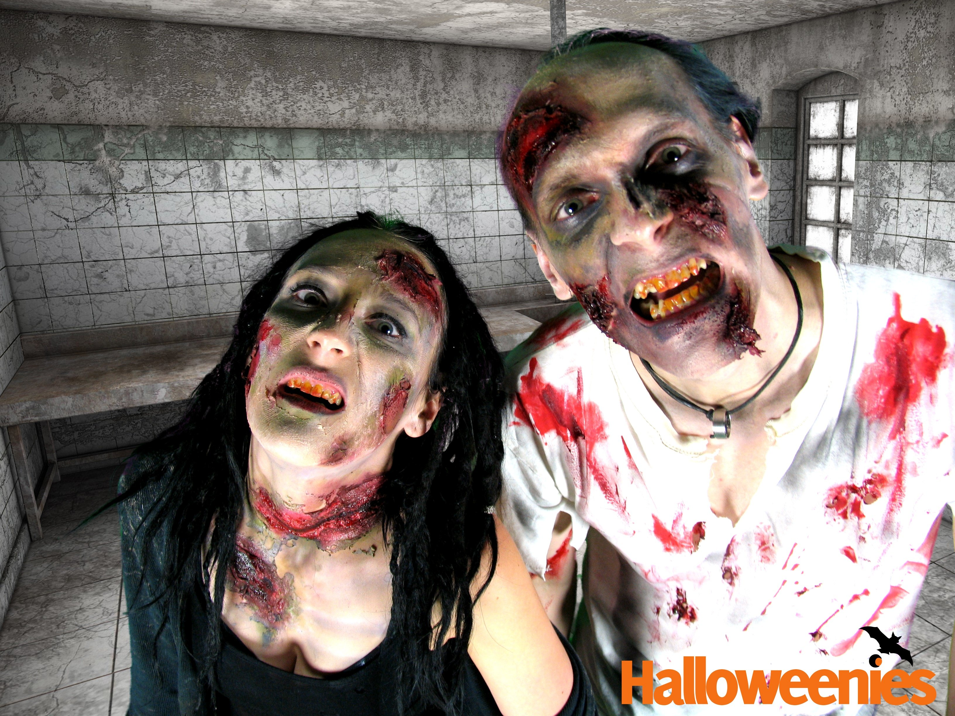 zombie make up mit dem profi schminkset f r halloween. Black Bedroom Furniture Sets. Home Design Ideas